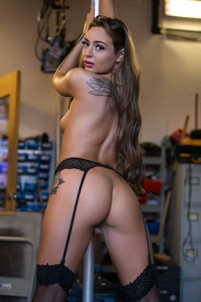 Poppy May wearing suspenders pic 11 of 12